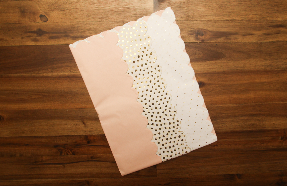 This fun scalloped tissue paper will be perfect for adding that extra special touch inside my boxes!