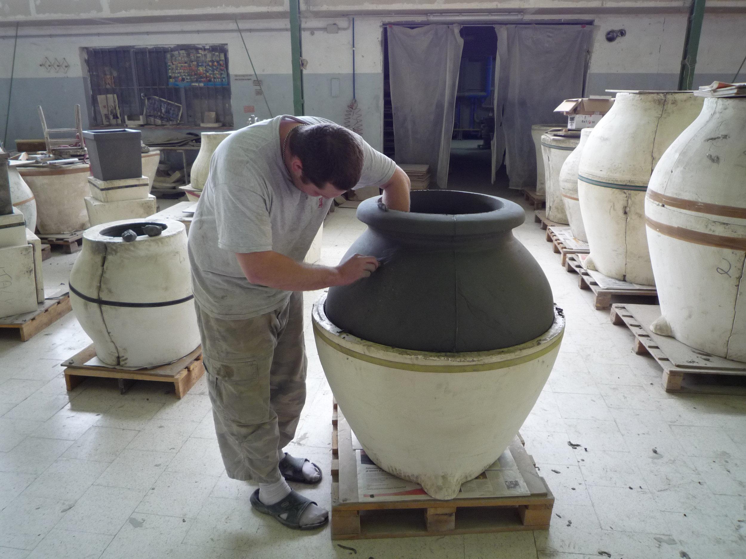 Italian Terrace Opening the mould.JPG