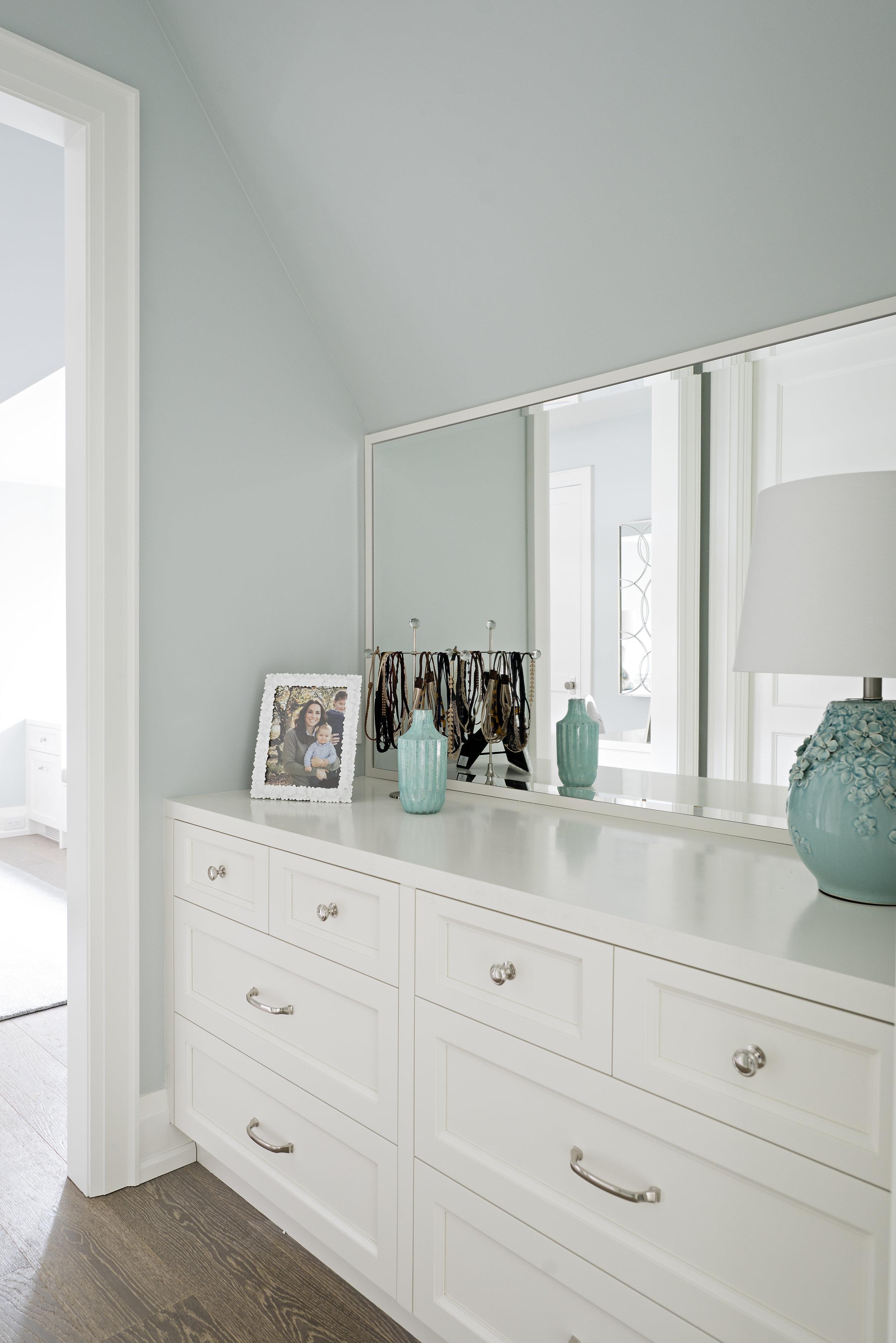 Interior Designer Pizzale Design Built-in Custom White dresser Brushed Nickel Hardware.jpg