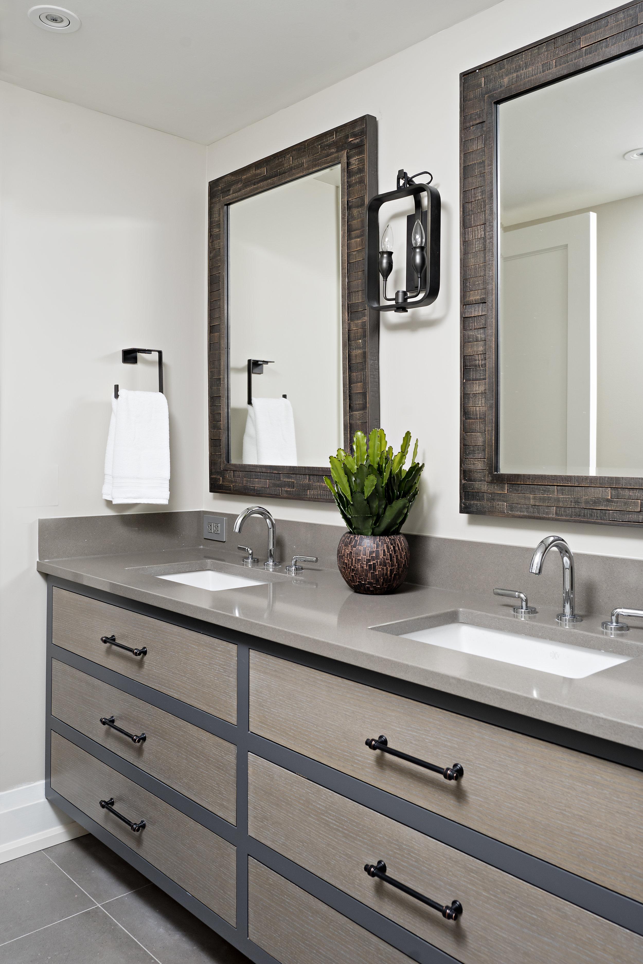 Interior Designer Pizzale Design Fresh Dual Bathroom Vanity Quartz Countertop Wood Cabinets.jpg