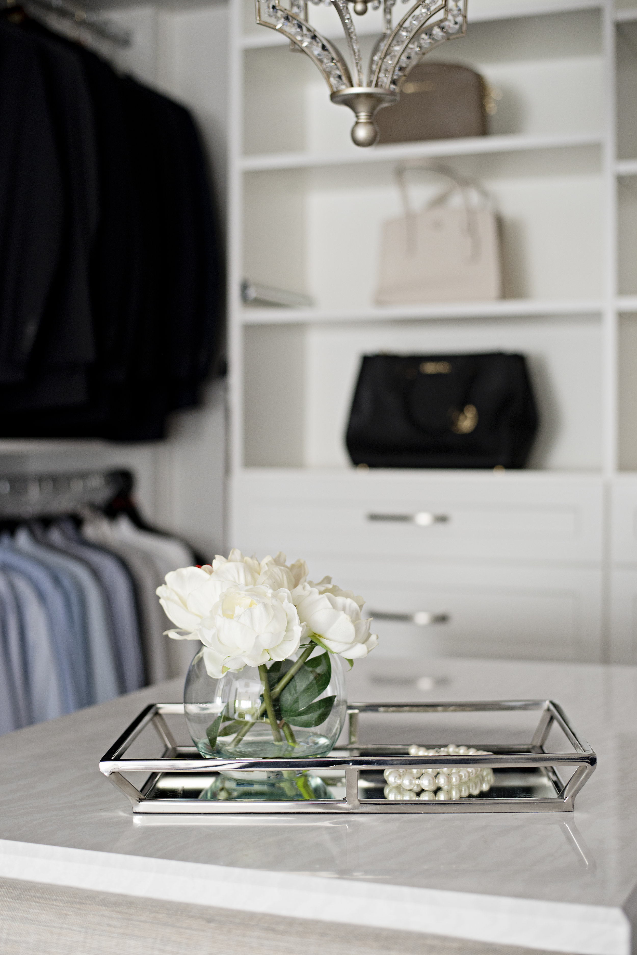 pizzale design interior design accessories decor polished chrome accessory small round vase with white flowers.jpg