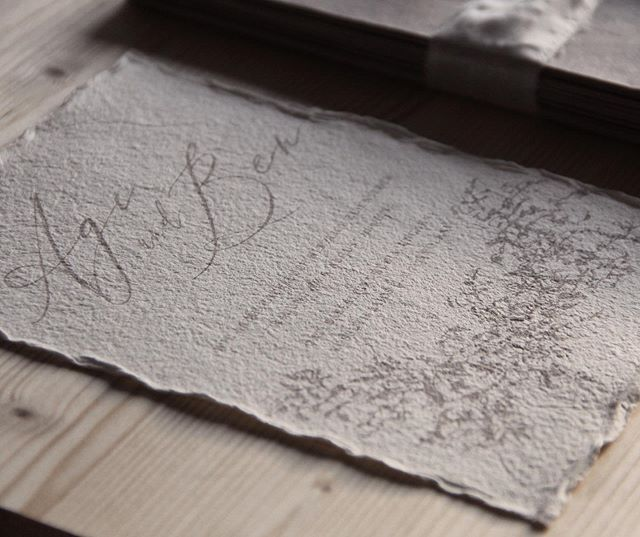 Still in live with handmade 🖤 . #handmade #invitation