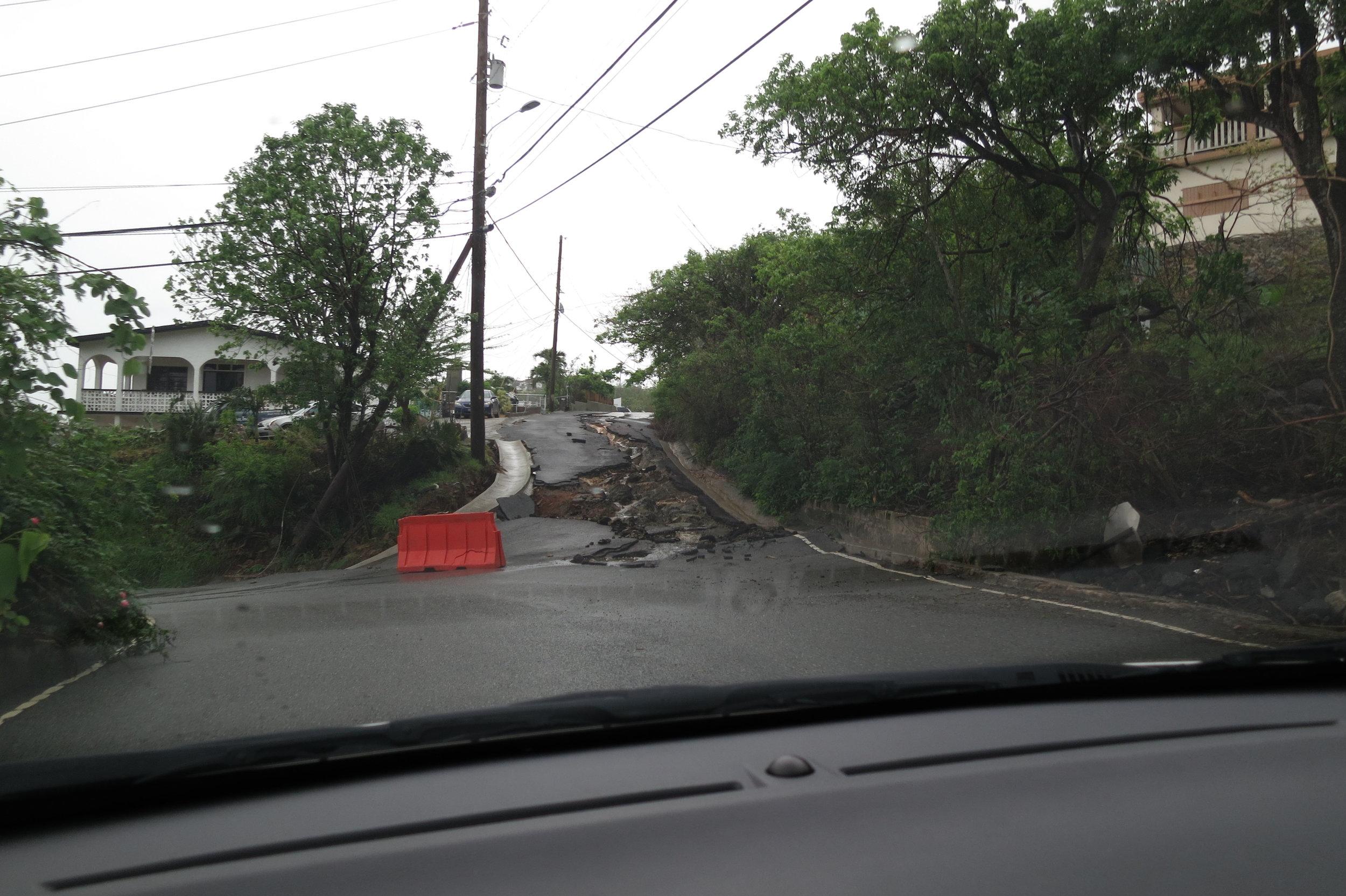 St Thomas road damage.JPG