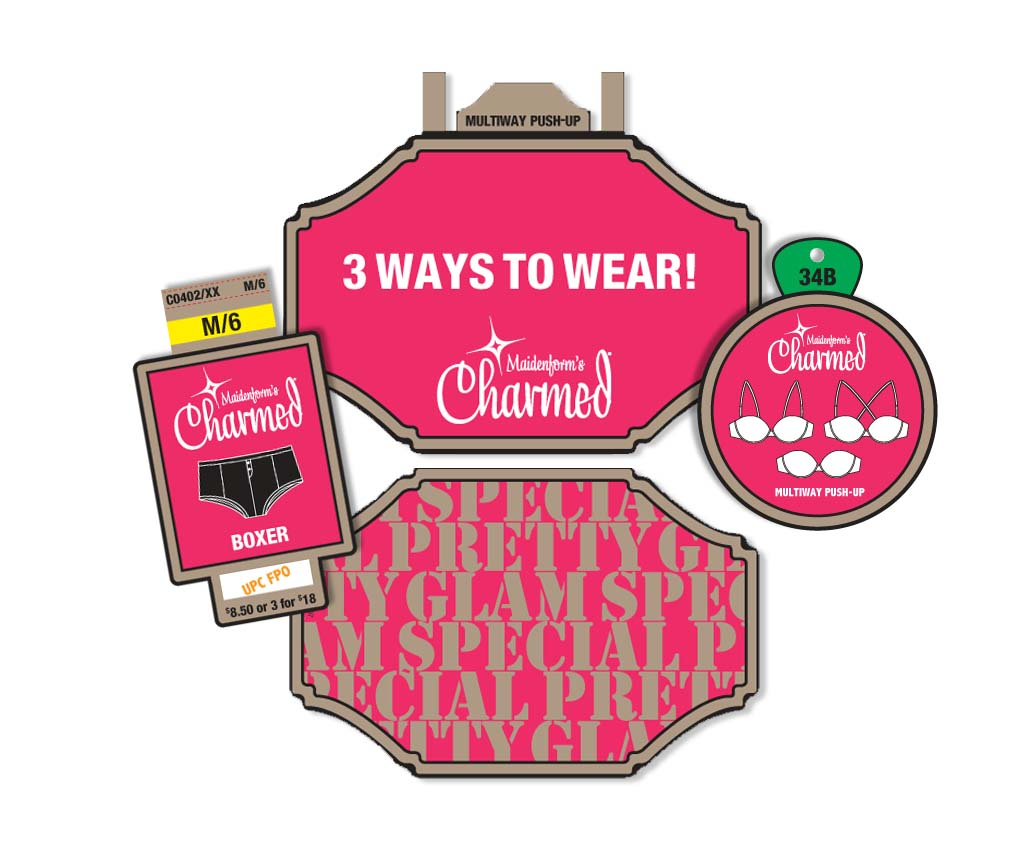 Maidenform Charmed Line labels