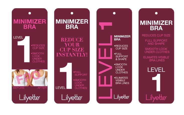 Maidenform Lily Minimizer Bra Tags