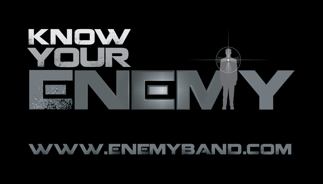 Band Logo  above: Business card center: tee shirt design right: drum skin below: large banner backdrop