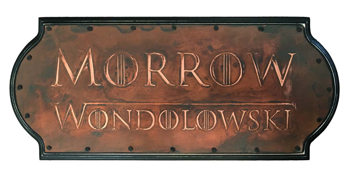 """Game of Thrones themed housewarming sign / 14 X 6"""""""