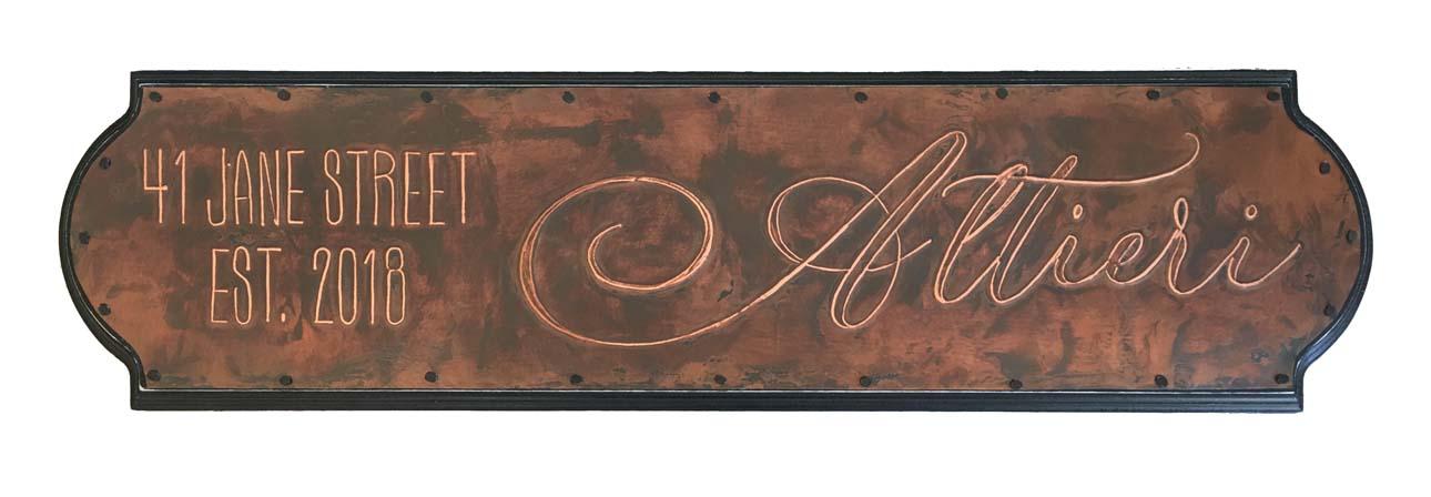 "House Warming Sign  23 x 6"" / custom design"