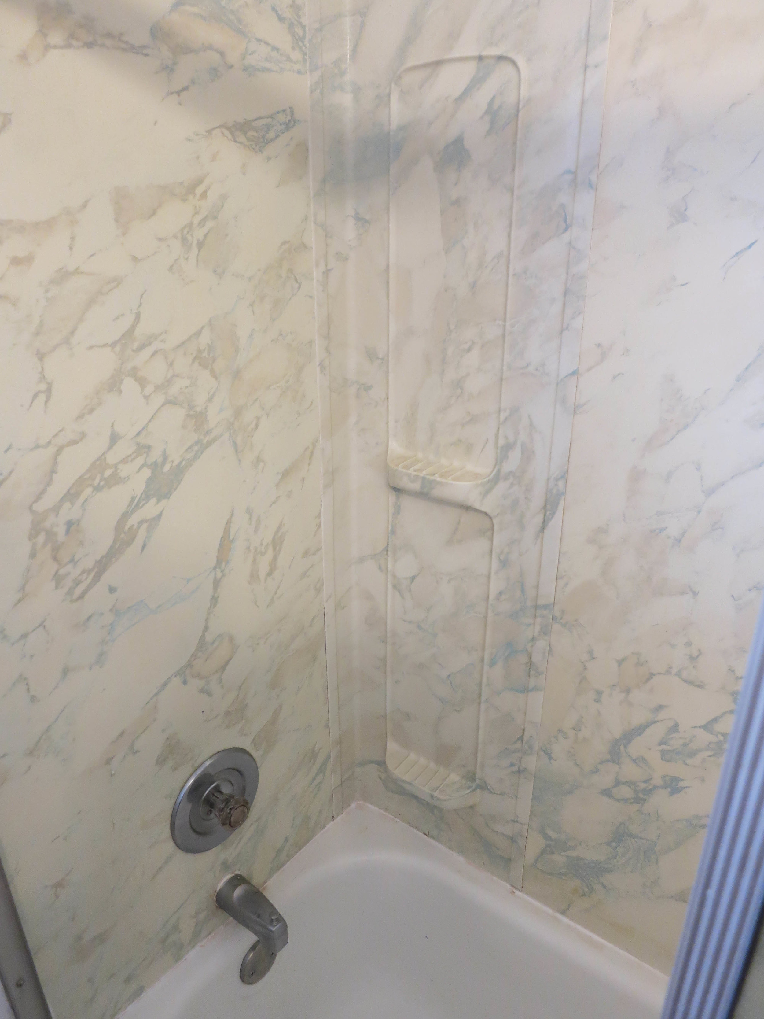 Old shower walls