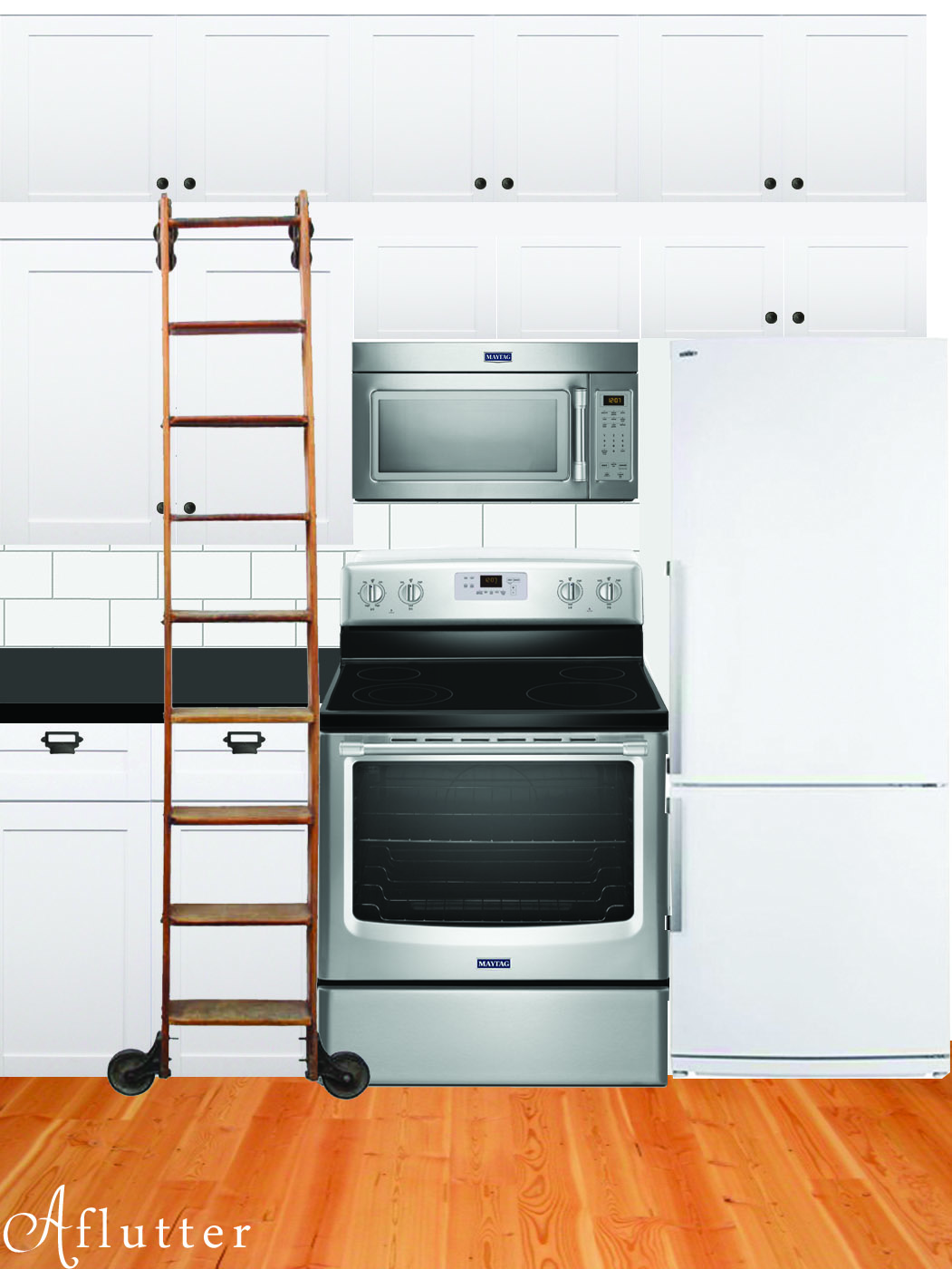 Stainless range and microwave