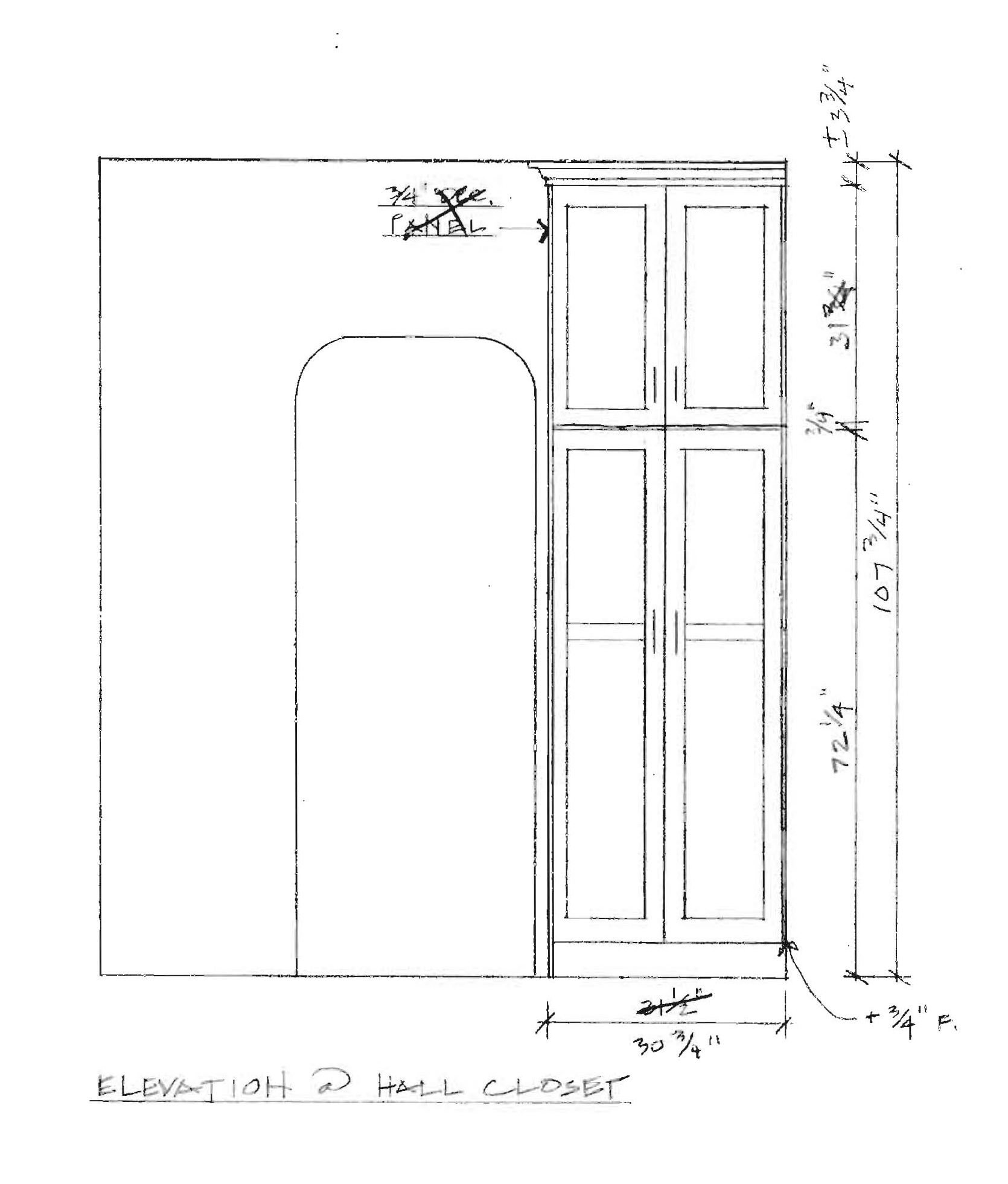 Hall closet Elevation