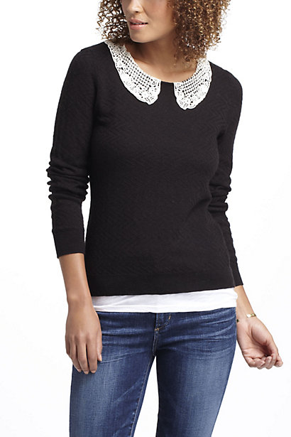 And my latest closet addition:  Lace Collar Pullover