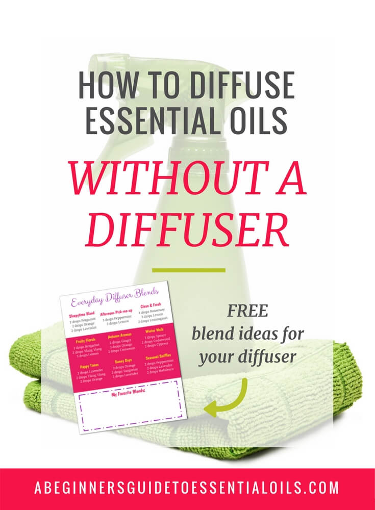 Diffusing essential oils is one of the easiest ways to use them -- making it perfect for beginners! And, while you could purchase an essential oil diffuser (believe me, they are very handy!) there are plenty of ways to diffuse without one. It's time to learn how to diffuse essential oils without a diffuser.