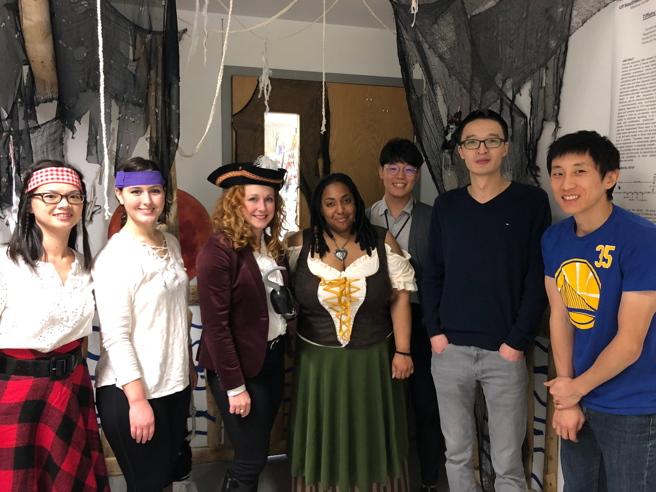 Immunology Department Halloween door decorating contest 2018