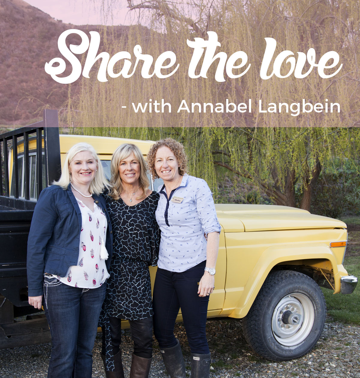 Share The Love experience with Annabel Langbein