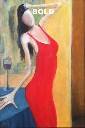 "The Actress     24""X 36""  Acrylic on Canvas"