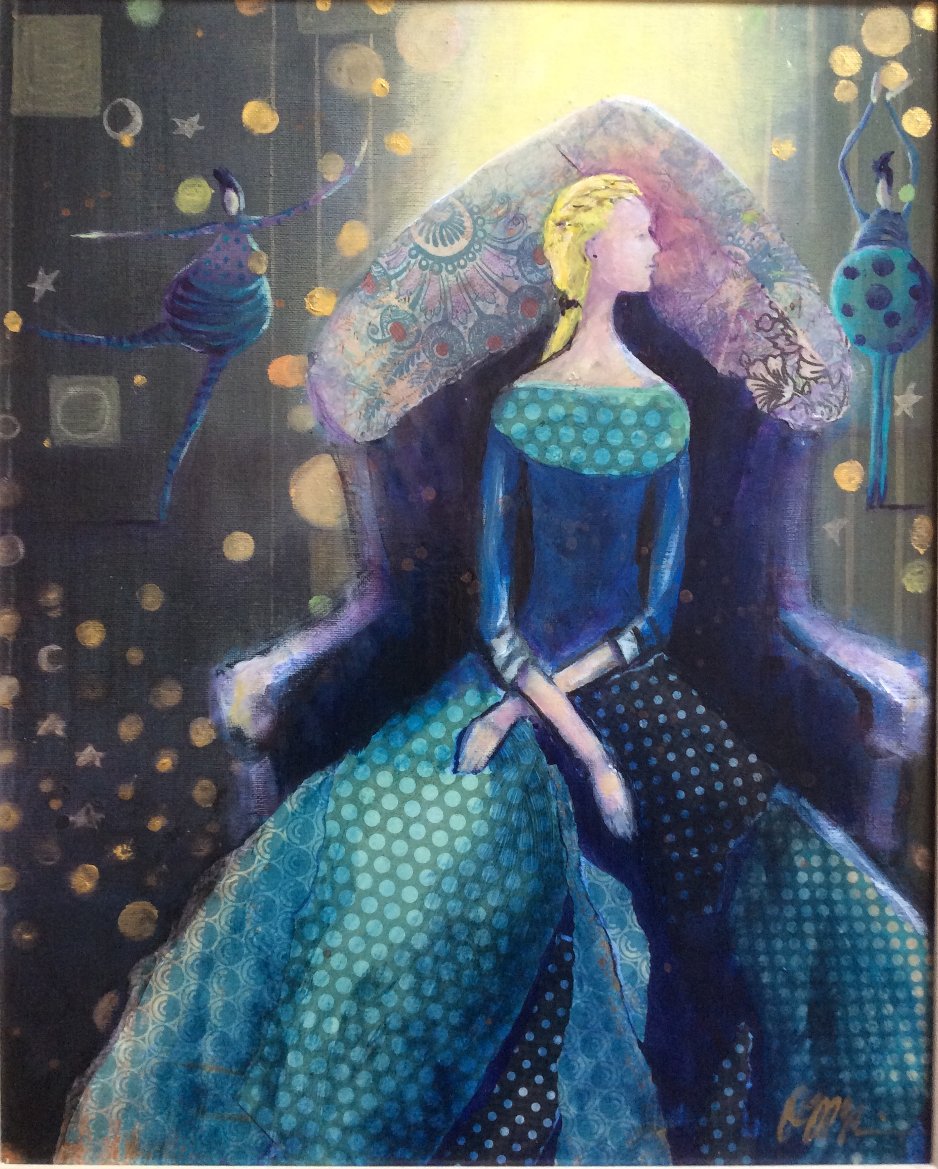 Alice-Coronation    20X30  Mixed Media