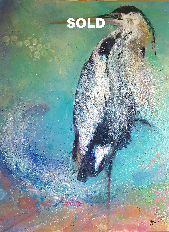"""Blue Lagoon    30""""X 40""""  Acrylic on Canvas"""