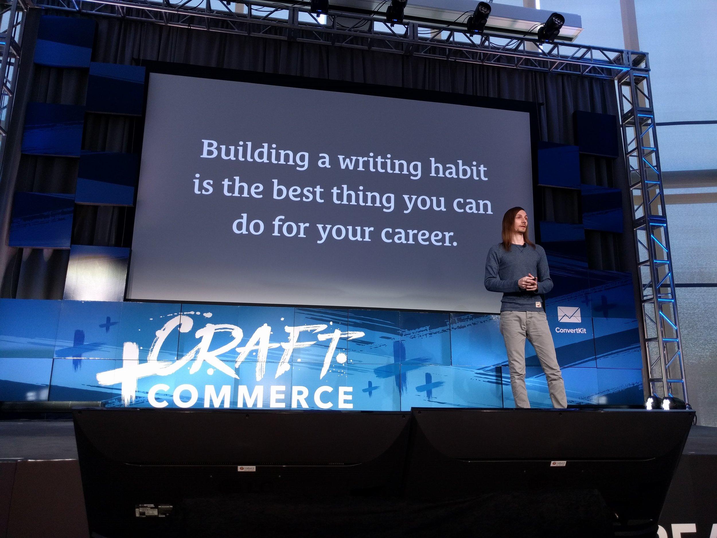 Sean McCabe Writing Habit