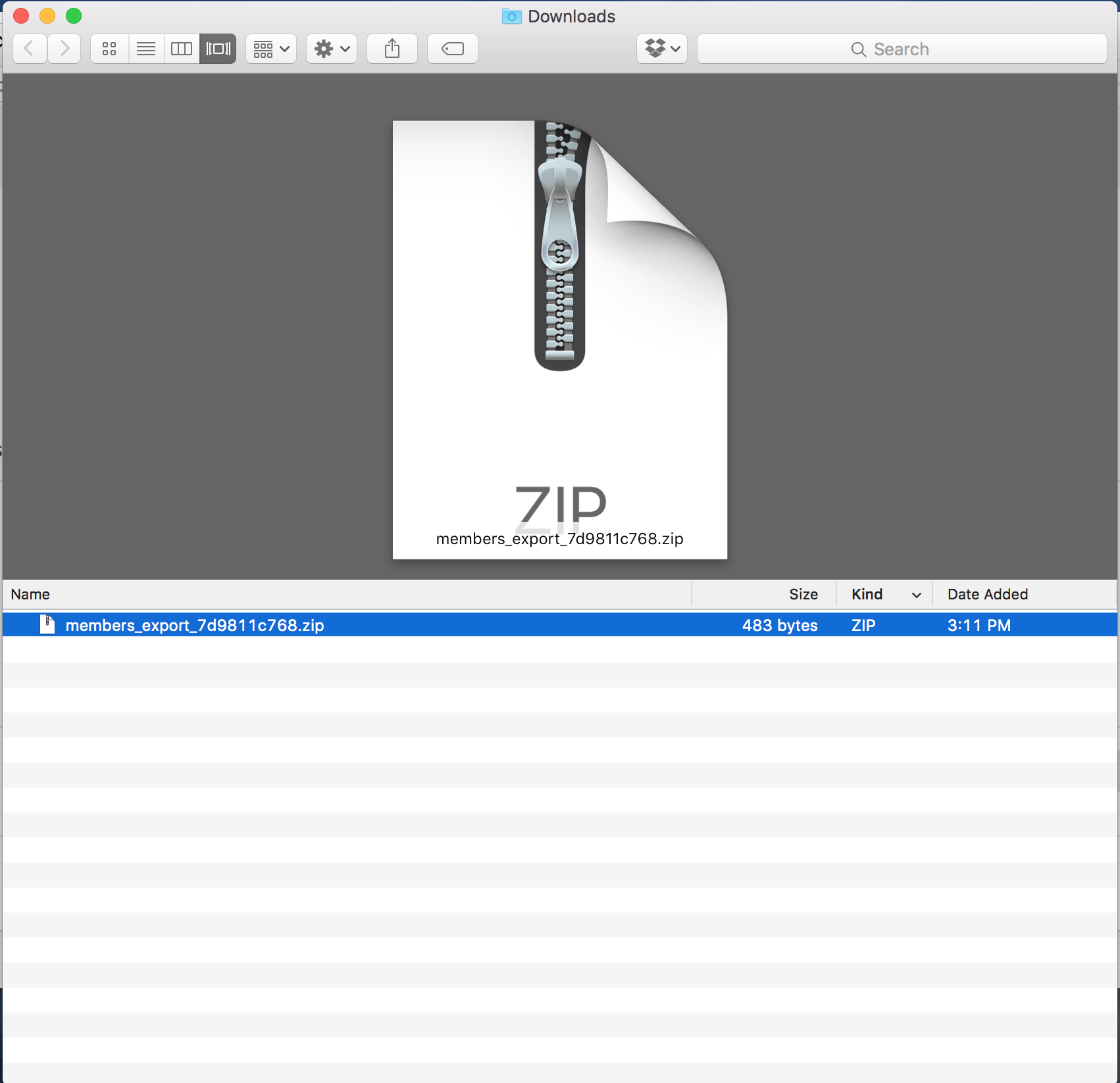 Downloads as a zip Name your zip file