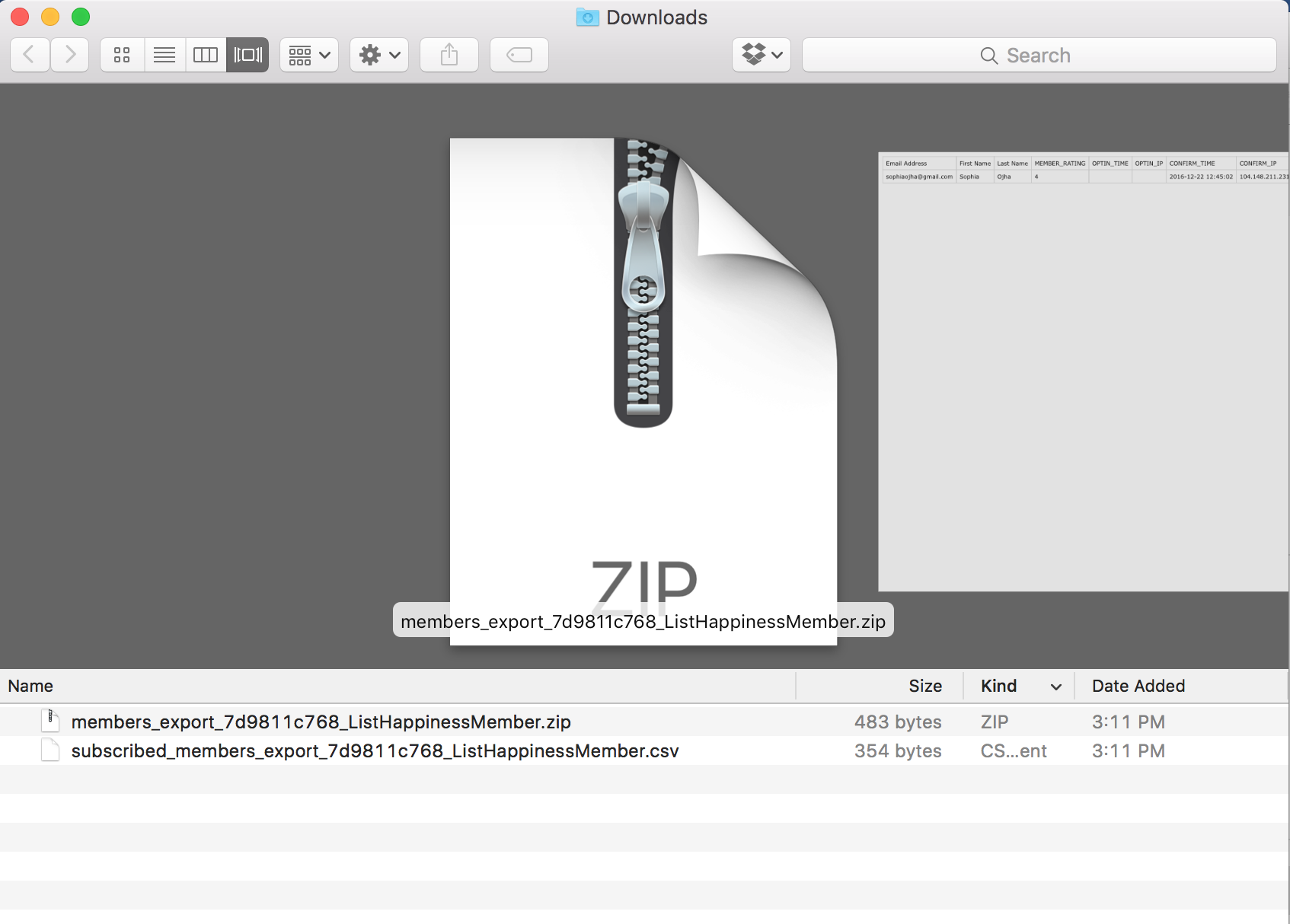 Open the zip the file