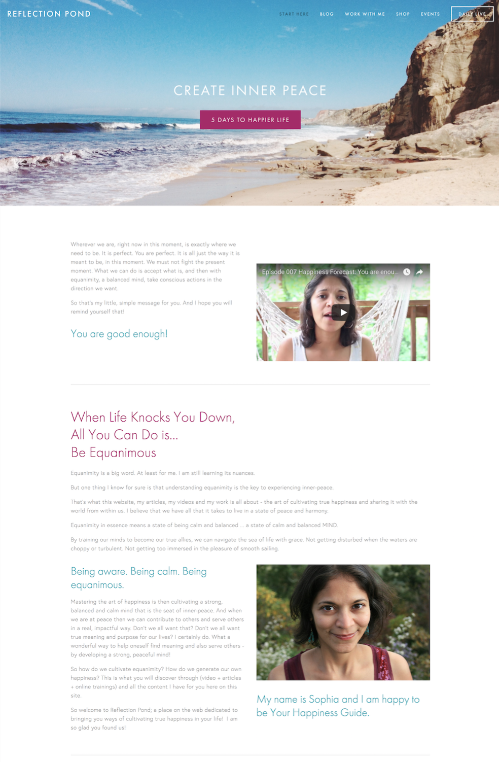 Squarespace Website Home Page Example