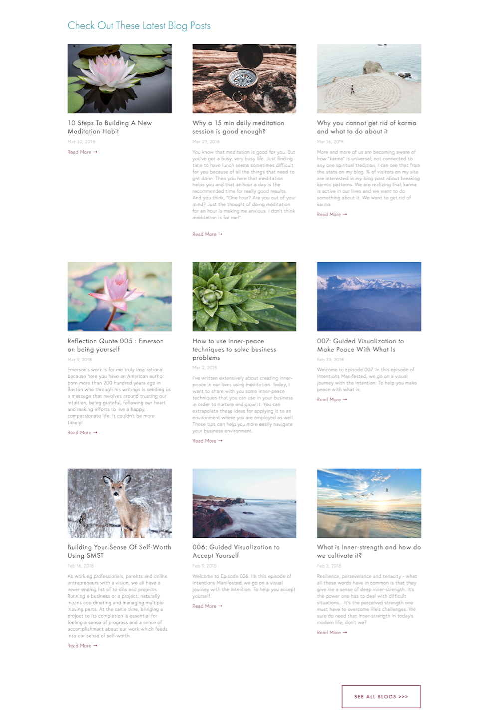Example of a Blog Page