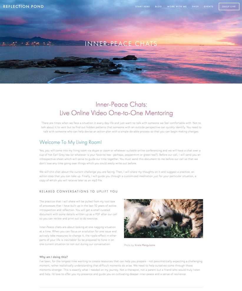 Service Offering Example Portfolio Squarespace Website