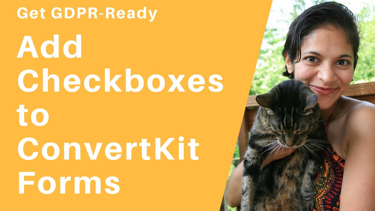 Checkbox for GDPR ConvertKit