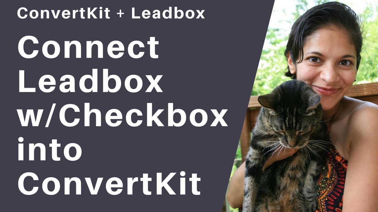 Leadbox Checkbox ConvertKit Tutorial