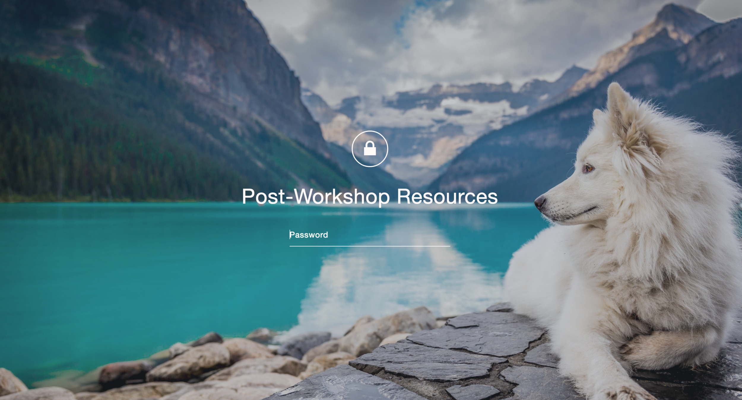 Post-Workshop Resources for building your Squarespace Site