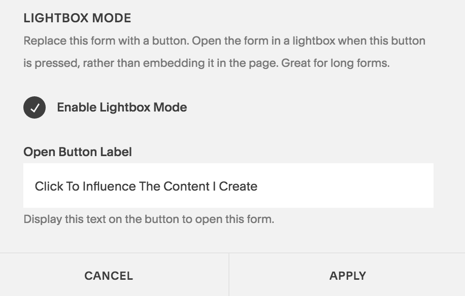 making the button click into a form