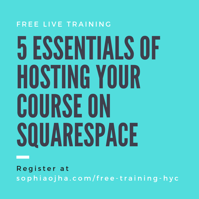 Free Training Hosting Your Course On Squarespace