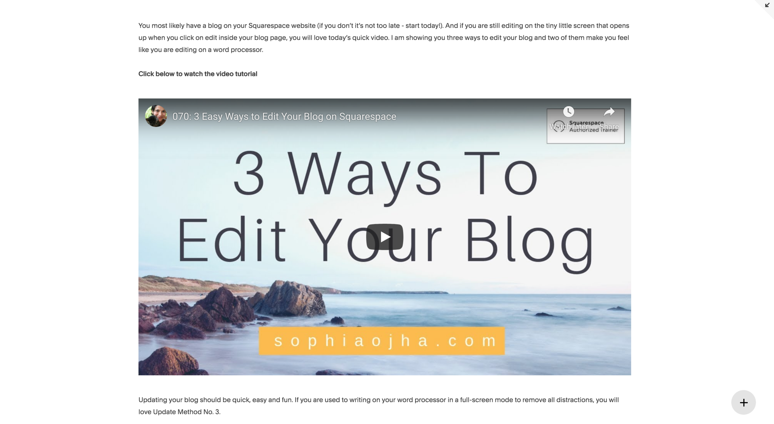 Edit your blog in three easy ways on Squarespace