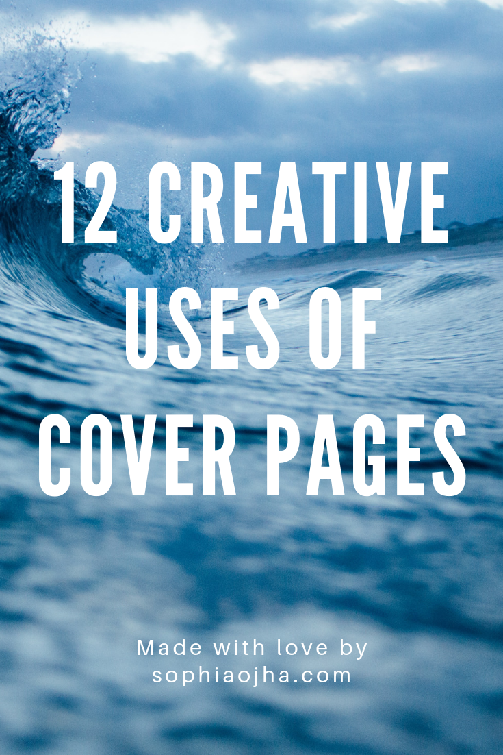 creative ways of using Cover Pages