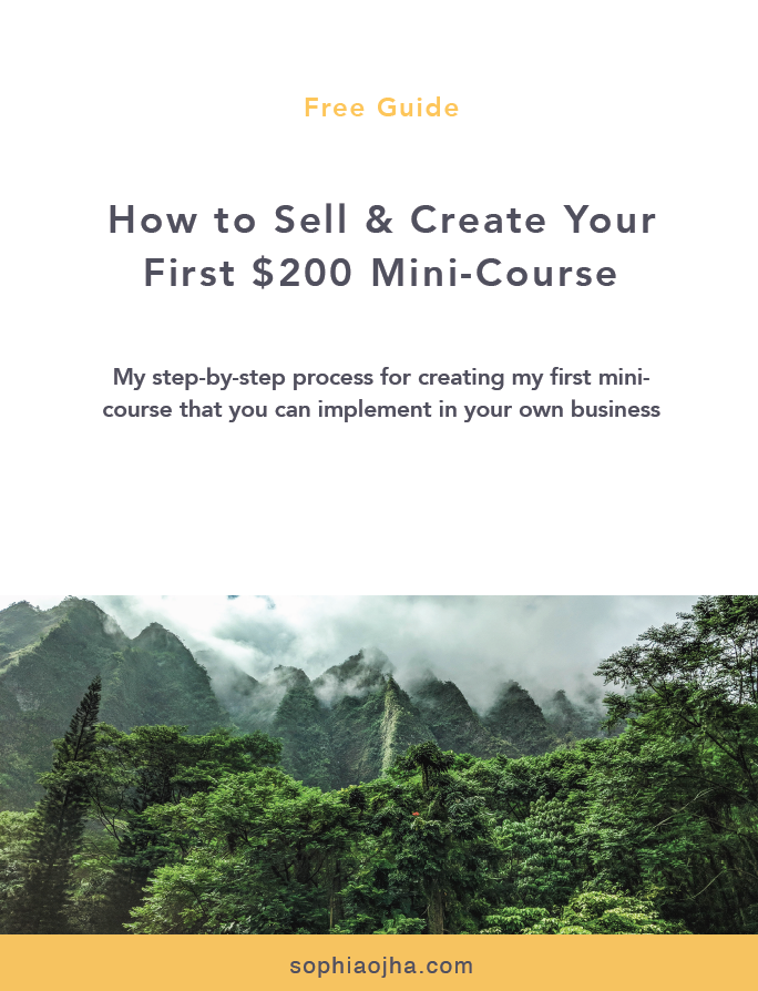 How to sell your course before creating it. Mini-Course