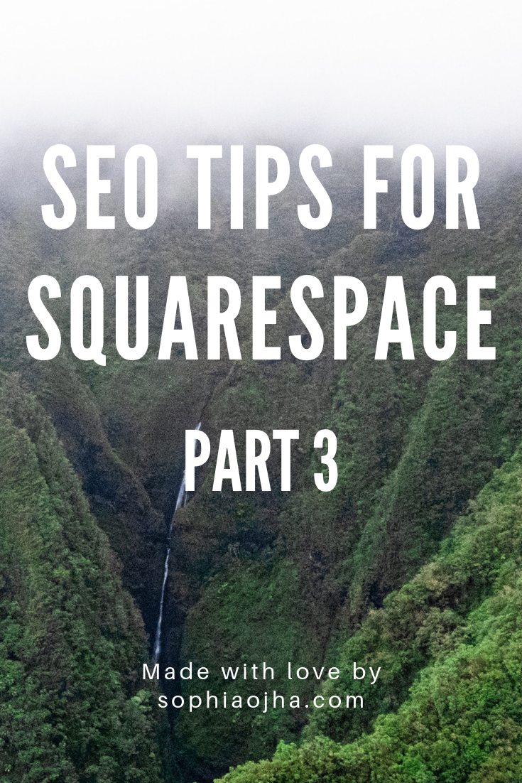 Squarespace SEO Search engine optimization