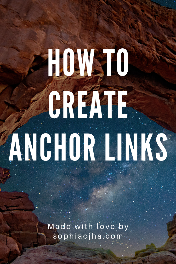 How to add Anchor links in Sqaurespace