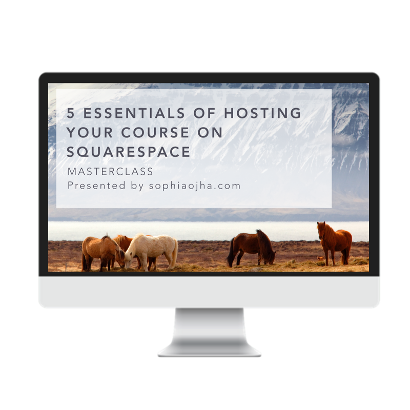 Host Your Course on Squarespace