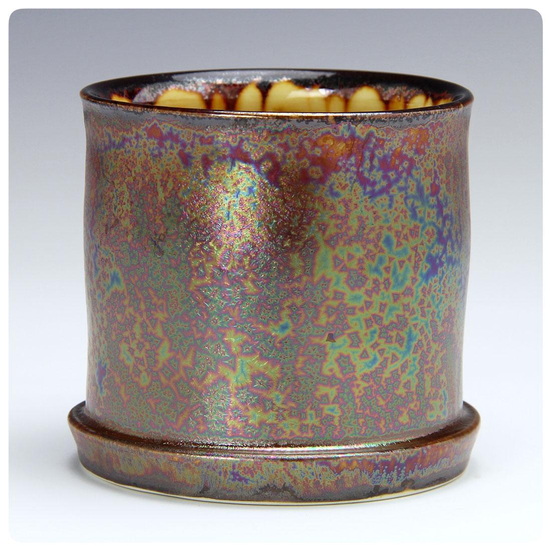 Copy of Purple Haze crystalline chip made by Bruce Gholson | Bulldog Pottery | Seagrove | North Carolina