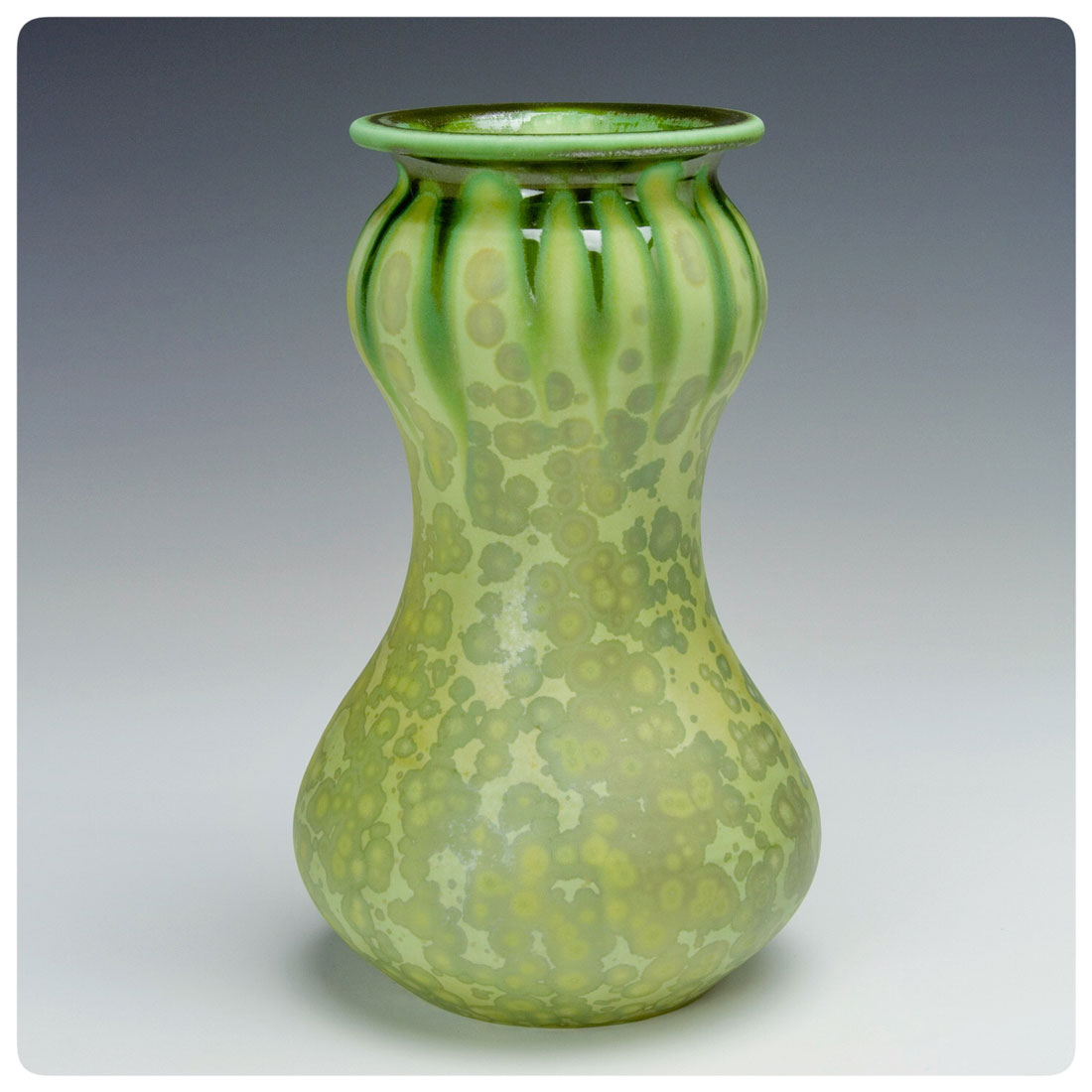 Matte Crystalline Gourd Vase, Bruce Gholson, Bulldog Pottery, Seagrove, North Carolina
