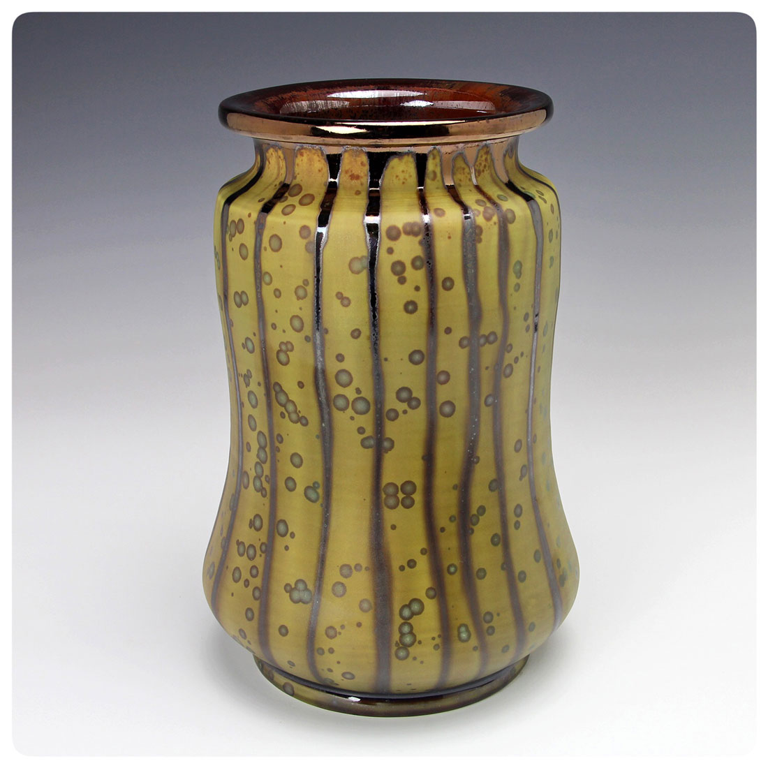 Matte Crystalline Art Pottery Vase, Bruce Gholson, Bulldog Pottery, Seagrove, North Carolina