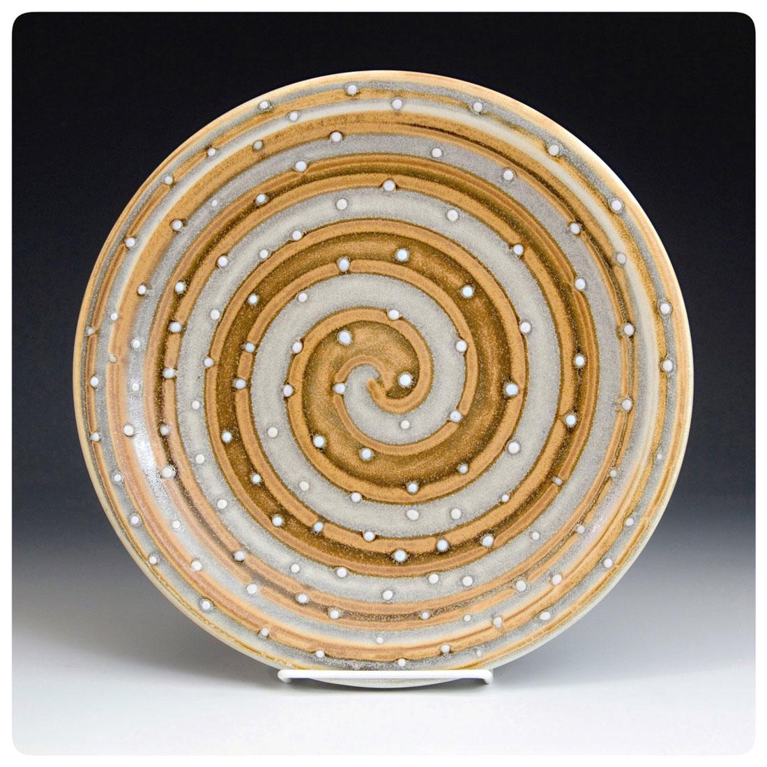 Plate with Swirl by Samantha Henneke | Bulldog Pottery | Seagrove | North Carolina