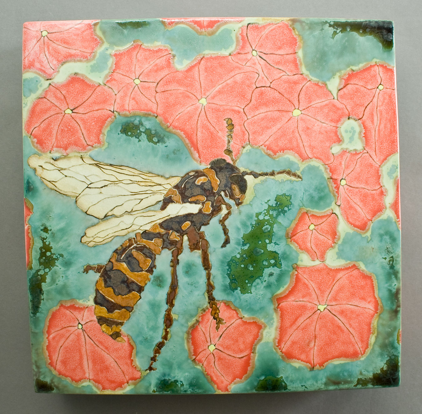 Wasp-and-Nasturiums-Ceramic-Art-Glaze-Painting-Samantha-Henneke.jpg