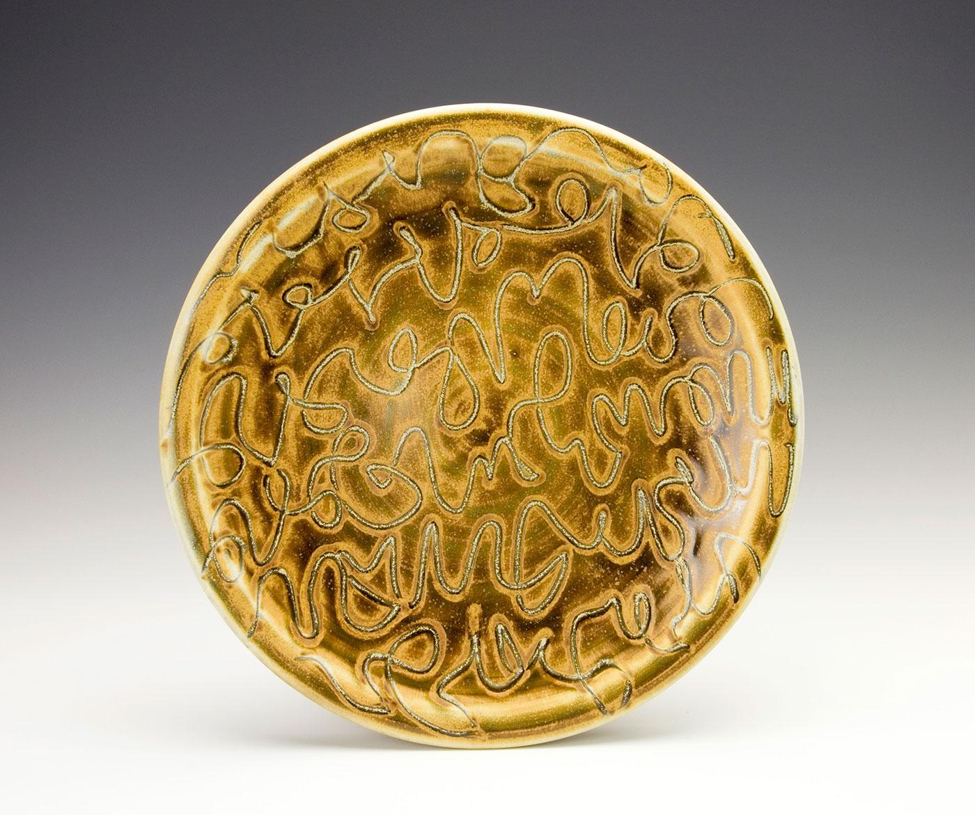 Abstract-Bronze-Moka-script-plate-Samantha-Henneke-Seagrove-North-Carolina.jpg