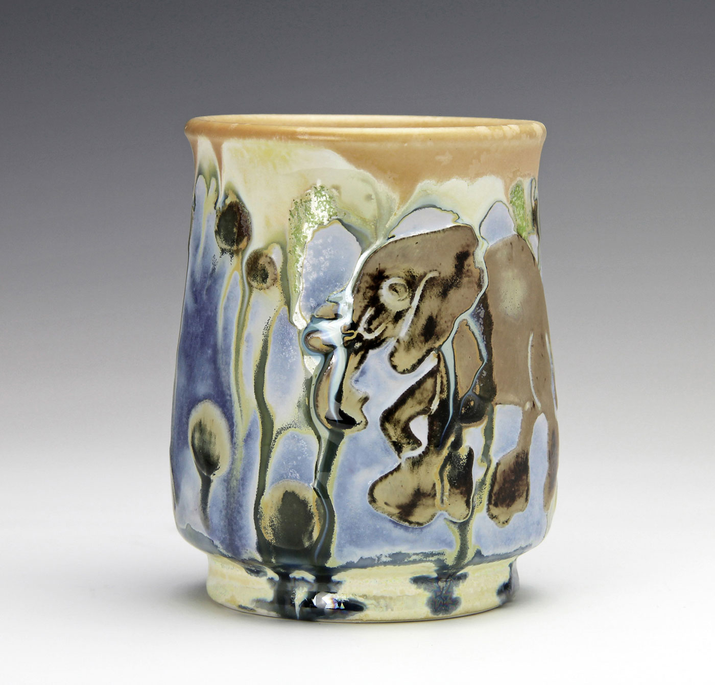 Elephant-on-contemporary-clay-cup-Samantha-Henneke-Seagrove-Pottery.jpg