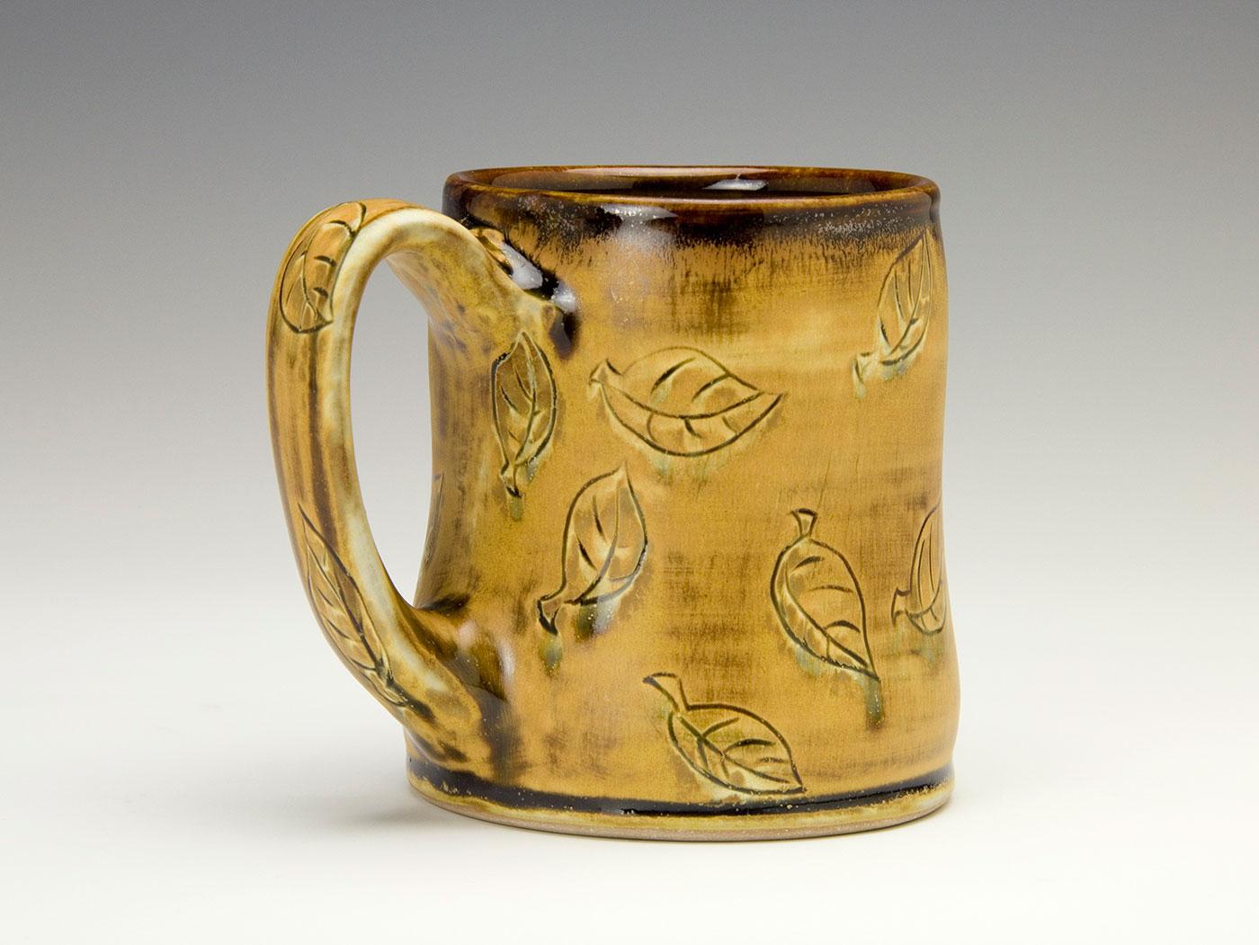Leaves-on-moka-bronze-contemporary-clay-mug-Samantha-Henneke-Seagrove-Pottery.jpg