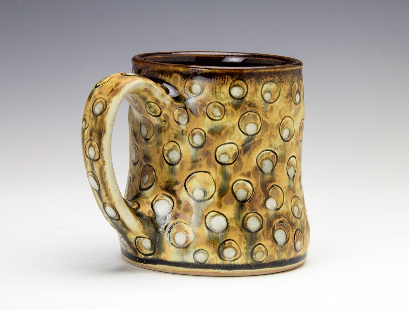 Moka-bronze-white-dots-contemporary-clay-mug-Samantha-Henneke-Seagrove-Pottery.jpg