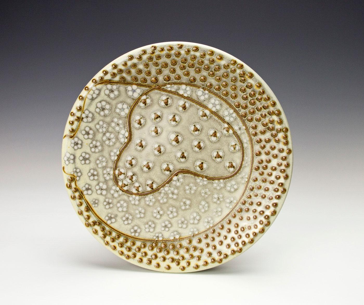 Pattern-medley-dinner-pottery-plate-dots-lines-Samantha-Henneke.jpg