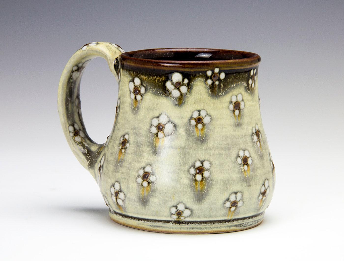 White-flower-dot-contemporary-clay-mug-Samantha-Henneke-Seagrove-Pottery.jpg
